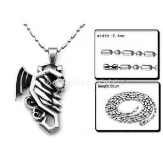 316L Stainless Steel Couples Heart Pendant Love Necklaces for Men Women Silver