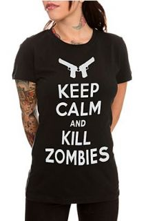 Keep Calm And Kill Zombies Girls T Shirt