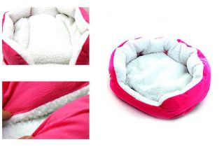 Pink Indoor Soft Warm Pet Puppy Dog Bed House Pet Nest Large Size 63x54cm