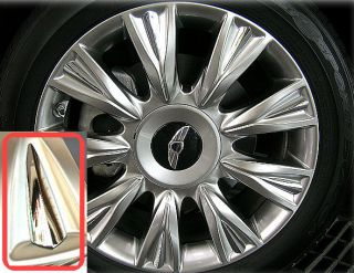 "2009 2012 Hyundai Genesis Wheel Spoke Cap Cover Set for 18"" Wheel Rim"