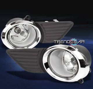 2011 2014 TOYOTA SIENNA BUMPER DRIVING CHROME FOG LIGHTS LAMPS+COVER+SWITCH+BULB