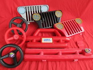 Fisher Price Power Wheels Jeep Parts Lot Grill Bumper Steering Wheel