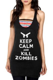 Keep Calm And Kill Zombies Girls Tunic Tank Top
