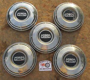 1968 68 70 71 72 73 Ford Fairlane Falcon Dog Dish Hubcaps Lot of 5