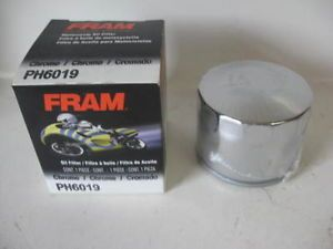 Harley Davidson Ducati Motorcycle Fram PH6019 Chrome Oil Filter Replaces 6378280