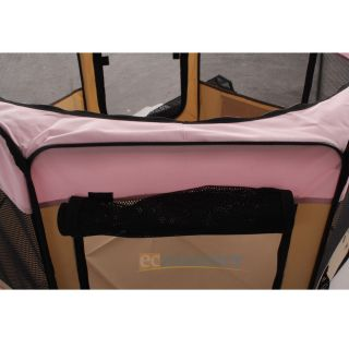 "New 48"" Large 2 Door Playpen Pet Puppy Dog Cat Tent Crate Exercise Kennel Pink"