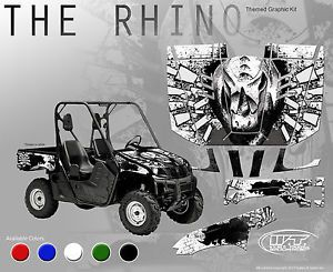 "Yamaha Rhino Hood Fender Graphics ""The Rhino"" for A Black or White Rhino"