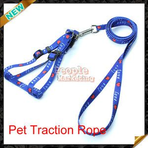 Hot Sell Practical Adjustable Soft Pet Dog Safety Lead Harness Nylon Leashes New