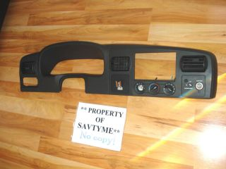 2005 2007 Ford F250 F350 Super Duty Dash Cluster Radio Bezel Black