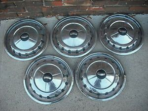 "5 14"" 1957 Cheverolet Chevy Bel Air Hubcaps Wheel Covers"