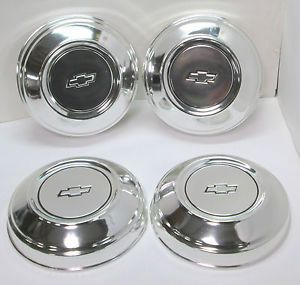 Chevy Dog Dish Hubcaps Set Nice Truck Car