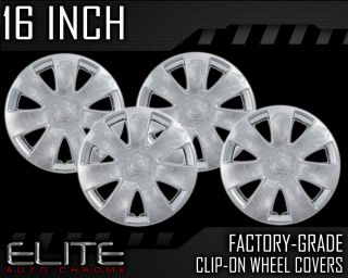 "2010 2012 Ford Fusion Chrome 16"" Clip on Hubcaps"