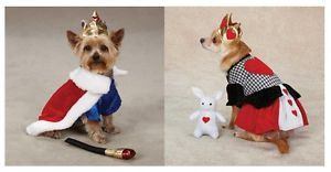 Royalty Costumes for Dogs King and Queen Royal Halloween Dog Puppy Costume