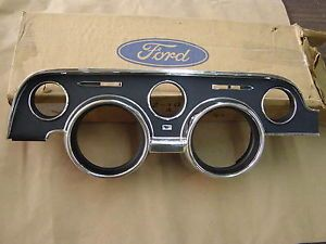 1968 Ford Mustang Standard Black Dash Bezel Trim