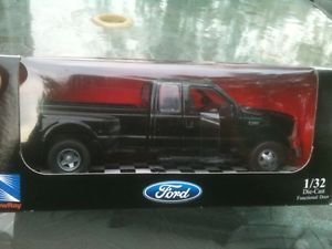 New NewRay Ford Pickup Truck Black Dually 1 32 Scale Diecast Black Box