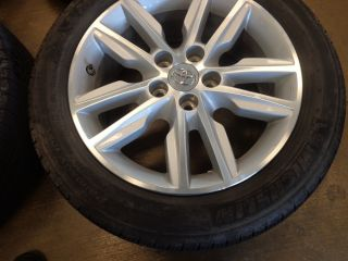 "4 17"" Toyota 2013"" Avalon Tacoma Sienna Camry Wheels Tires TPMS Ref 771 A"