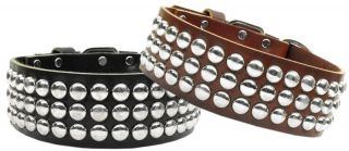 Tokyo Studded Leather Pet Dog Collar