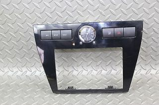06 09 Fusion Black Radio Trim Bezel Surround Dash Panel Info Switch Clock TCS