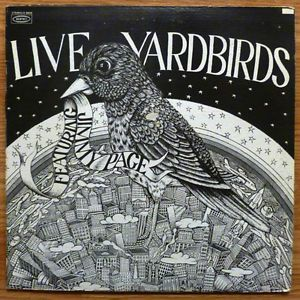 Yardbirds w Jimmy Page of LED Zeppelin Live Yardbirds White Label LP VG EXC