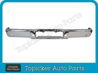 2006 2008 Ford F150 Styleside Rear Step Bumper Face Bar Chrome with Sensor Holes