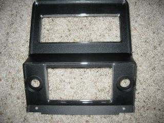 1969 70 Ford Mustang Radio Dash Bezel Black Color