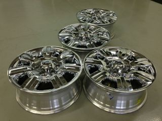 4 Ford F150 Expedition FX4 Factory 18 Chrome Wheels Rims Caps 6x135
