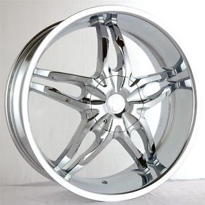 24 inch Gazario 782 Chrome Wheels Rims 5x135 F150 Expedition Navigator 97 03