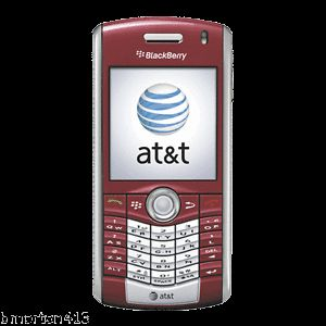 Blackberry Pearl 8110 Red at T Bluetooth Smartphone w Push to Talk GPS