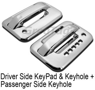 For F150 2 Door Pickup Truck Chrome Handle Cover Moulding Trim Sets