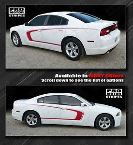 Dodge Charger Side Scallop Bumblebee C Stripes 2011 2012 2013 Decals Pro Motor