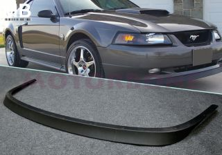 Ford Mustang 99 04 Front Bumper Lip Spoiler Style GT SV Lower 2D Coupe Black