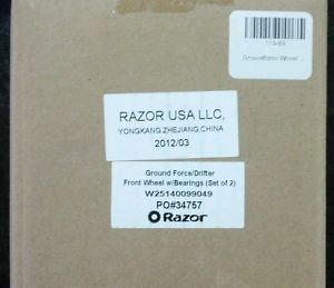 New Razor Ground Force Drifter Front Wheel with Bearings Set of 2