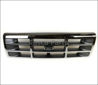New Platinum Chrome Front Grille Ford F150 F250 F350 Bronco F4TZ 8200 A