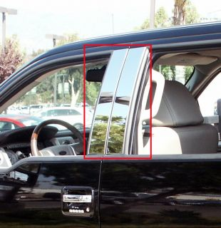 04 05 06 07 08 09 10 11 Ford F150 Super Crew Chrome Door Pillar Post Trims Set