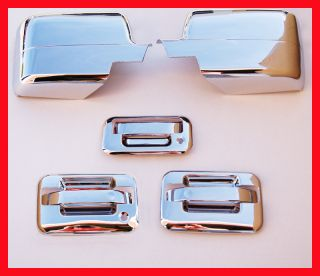 04 08 F150 Chrome Door Handle Tailgate Mirror Covers 3D