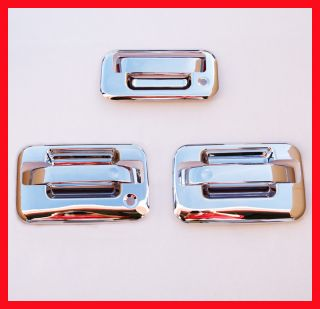 04 11 Ford F150 Chrome 3 Door Handle Covers Bezel 1K H