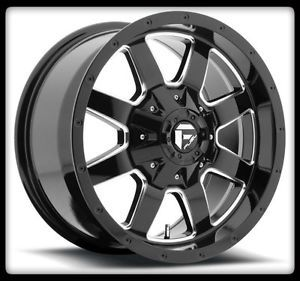 "20"" Fuel Frontier D535 Black Rims 33x12 50x20 Toyo Open Country MT Tires Wheel"