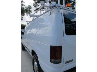 Ford E250 Cargo Van 4 6L Gas with Ladder Racks Shelves Power Inverter and More