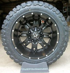 "20x12 Tis 535 Black Toyo Open Country MT 33 12 50 20 33"" Mud Tires"