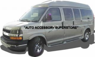 03 Up Chevy Express Van Full Flared Running Boards with Molded Fender Flares