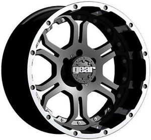 "18"" Gear Alloy 715MB Recoil Black Rims 35x12 50x18 Toyo Open Country MT Tires"