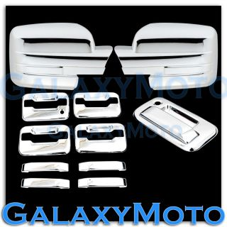 09 13 Ford F150 Chrome Mirror No Light 4 Door Handle No KYP K H Tailgate Cover