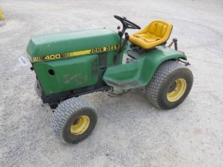 John Deere 400 Garden Tractor 3 Point 20HP 804 Hours Showing