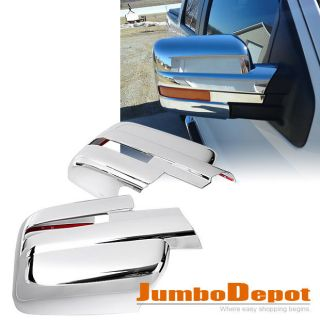 New Chrome Mirror Covers w Signal Cutout Set for Ford F150 2009 2010 2011 2012