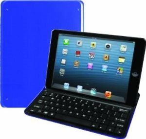 New Vibe Essential iPad Mini Aluminum Bluetooth Keyboard Blue
