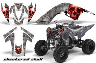 AMR Racing Graphic ATV Wrap Off Road Decal Sticker Kit Yamaha Raptor 700 CSRS