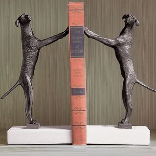 Horchow Labrador Retriever Dog Bookends Dancing Conga