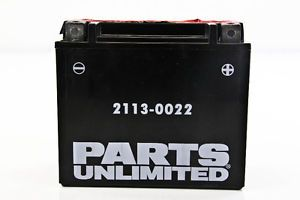 09 12 Polaris Ranger RZR 800 Parts Unlimited AGM Maint Free Battery CTX20HL BS