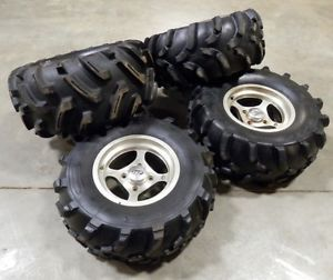 "Kawasaki Brute Force 650 750 ITP Wheels 27"" Tires Goodyear Mudrunner Grizzly ATV"
