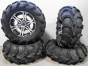 "ITP SS212 14"" Wheels Machined 28"" Mud Lite XL Tires Kawasaki Brute Force IRS"